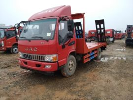 珠海黃牌大運平板車可載150挖機廠家  中