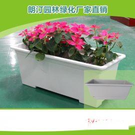 厂家批发PP塑料花盆,高架桥阳台长方形蓄水花盆,