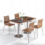 廠家直銷新款公司餐廳學校食堂板式快餐桌椅可掛起