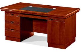 1413款1.4米油漆辦公桌 胡桃木皮綠色環保家具