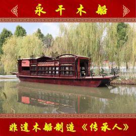 定制16米嘉兴南湖红船厂家仿制1:1红船摆件