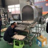 全自动蒜香鸡米花油炸机 酥脆鸡米花裹粉油炸生产线