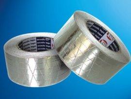 供应夹筋铝箔胶带 铝箔加筋胶带