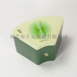 扇形茶叶铁罐,异形茶叶铁盒,清茶铁盒包装