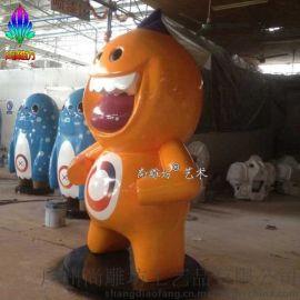 2016爆款星际卡通动漫人物雕塑大胖熊造型可爱玻璃钢大型雕塑定制