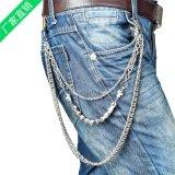 供应混批朋克金属牛仔裤链 骷髅头裤链 新款装饰金属腰链批发定做