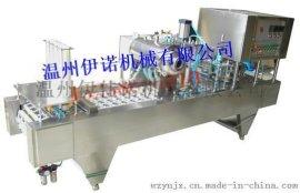 4口全自动酸奶灌装封口机豆浆充填封口机珍珠奶茶灌装封口机