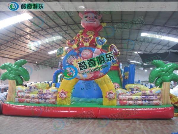 2016新款豬豬俠大滑梯廠家