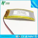 402358-480mah 彎曲聚合物鋰電池
