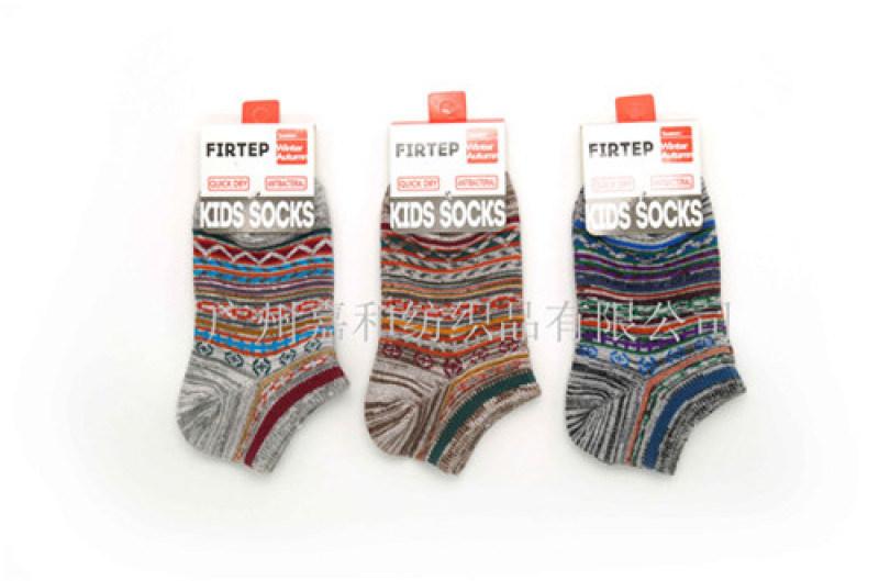 田園風格童裝棉襪 花紗款兒童船襪 廣州兒童襪子廠家