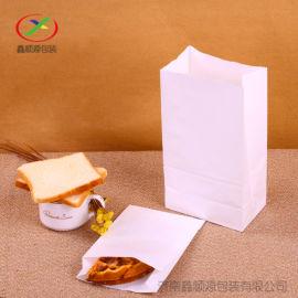 济南环保吐司袋食品袋烘焙西点袋防油牛皮方底纸袋