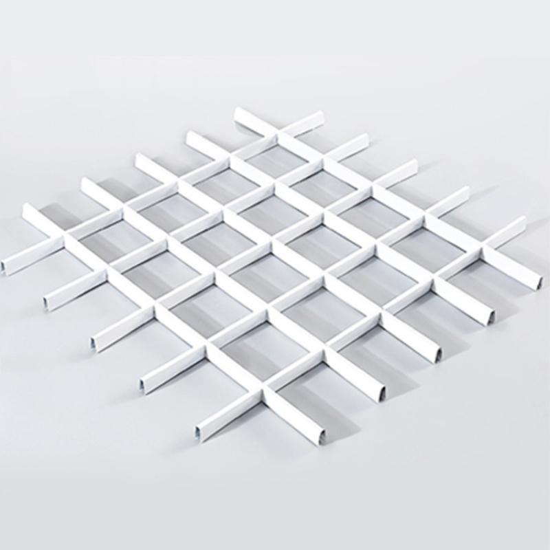 木纹铝格栅厂家直销吊顶天花铝格栅规格定制