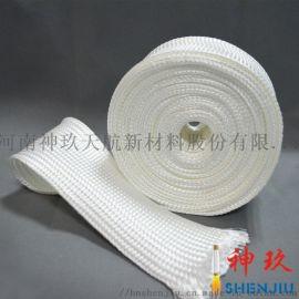 神玖厂家直供高温隔热纤维套管 绝缘阻燃石英纤维套管