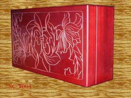 木制刻花酒盒