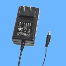 12V插墙式3C认证开关电源 12W摄像机专用电源