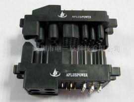 37芯充电桩连接器 热插拔端子 航空插头