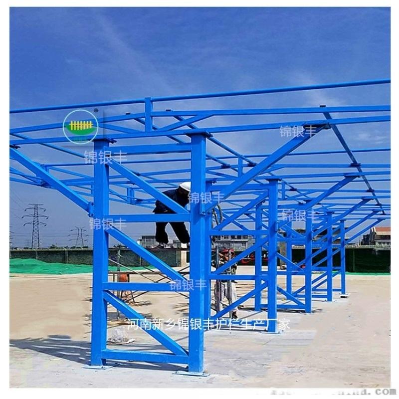 钢筋加工防护棚图片 钢筋防护棚搭设标准