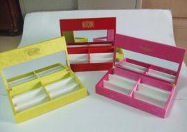 彩色木质光学太阳镜盒展示盒镜子展示收纳盒