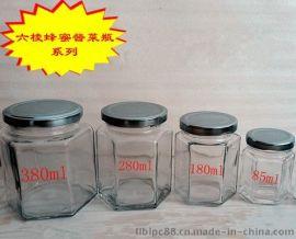 六棱玻璃瓶180ml酱菜瓶