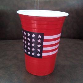 一次性ps红白双色塑料杯