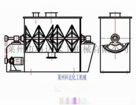 混合机 卧式螺带混合机 莱州科达化工机械