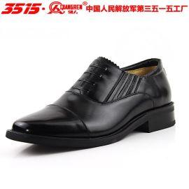 3515强人**男士商务皮鞋真皮正装三接头皮鞋功勋07男式将军皮鞋