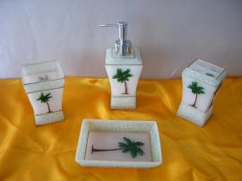 树脂卫浴四件套 树脂卫浴用品 酒店卫浴用品客房用品 水晶胶制品