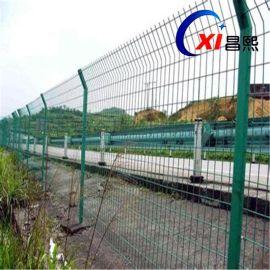 安平县昌熙网业现货供应双边丝公路护栏网|圈地围栏网|厂区隔离网|工地防护网