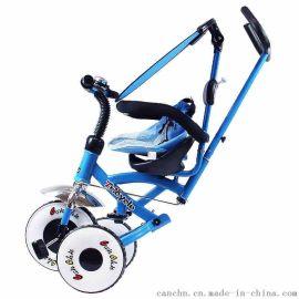 灿成折叠儿童三轮车脚踏车婴儿手推车宝宝三轮车全折叠便携自行车