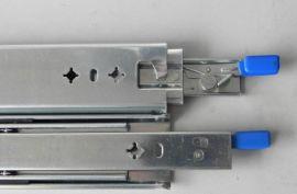 FX3076L带锁进超重型三节全展  滑轨滑道导轨轨道三节轨重型机柜抽屉滑道