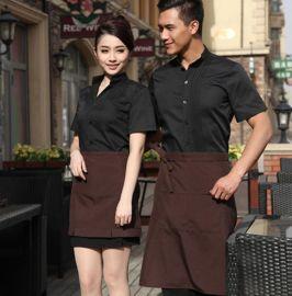 新款酒店工作服定做长袖餐厅男女服务员工作服茶楼饭店