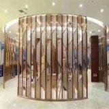 玫瑰金屏風隔斷加工廠家 學校辦公酒店餐廳座屏批發定製304不鏽鋼