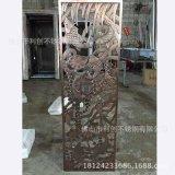 鍍銅鋁屏風加工定製廠家歐美流行家庭擺件鋁雕刻品批發玄關鋁隔斷