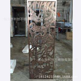 镀铜铝屏风加工定制厂家欧美流行家庭摆件铝雕刻品批发玄关铝隔断