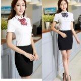 廠家批發定做女裝工裝短袖襯衫棉女式韓版白襯衣ol時尚職業工作服