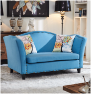美式鄉村布藝鉚釘沙發 客廳小戶型家具咖啡廳休閒沙發 sofa