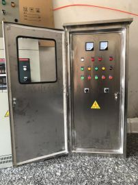 4kwABB变频恒压供水控制柜一控二供水专用控制柜不锈钢箱体