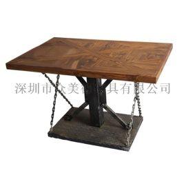 众美德欧式餐桌餐椅 餐厅用餐桌 榉木餐桌 批发定制