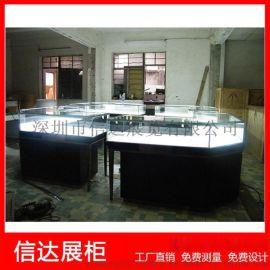 不锈钢珠宝展览柜透明玻璃展示柜木质烤漆展柜