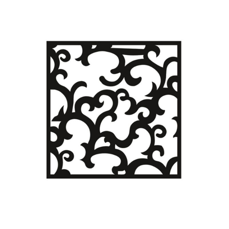 厂家直销铝窗花别墅酒店专用装饰材料规格定制铝窗花