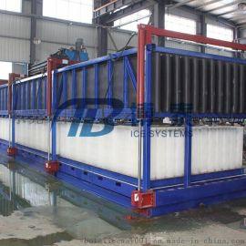 水产保鲜食用直冷块冰机日产5吨-30吨供应,制冰机配件及直冷冰砖机供应