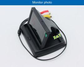 4.3寸台式翻盖显示器可视系统 倒车影像汽车车载影音 厂家源喜