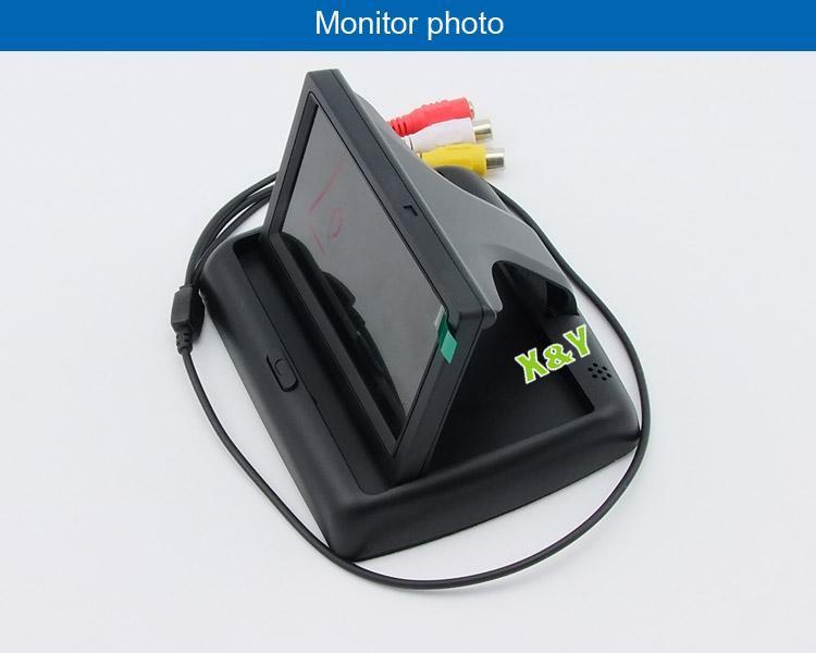 4.3寸臺式翻蓋顯示器可視系統 倒車影像汽車車載影音 廠家源喜
