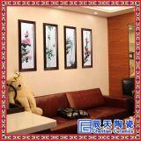 訂做展廳瓷板畫 花開富貴瓷板畫 手繪瓷板畫價格 浮雕瓷板畫