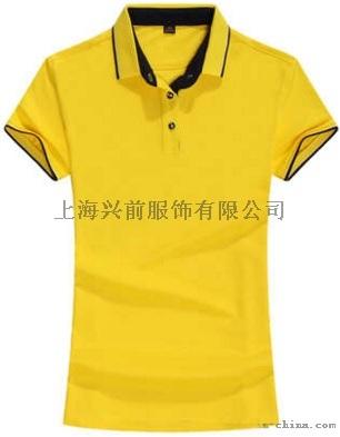 厂家直销全棉翻领拼色T恤衫