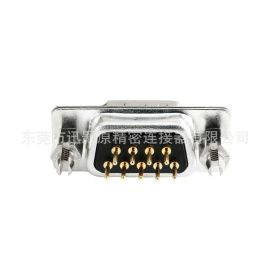 D-SUB车针连接器,DP9公直插板铆鱼叉,端子镀金1U,厂家直销