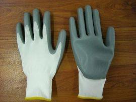 13针涤纶针织丁腈手套 耐油手套
