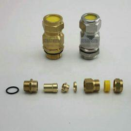 外头丝防爆填料函 一内一外防爆密封接头黄铜镀镍