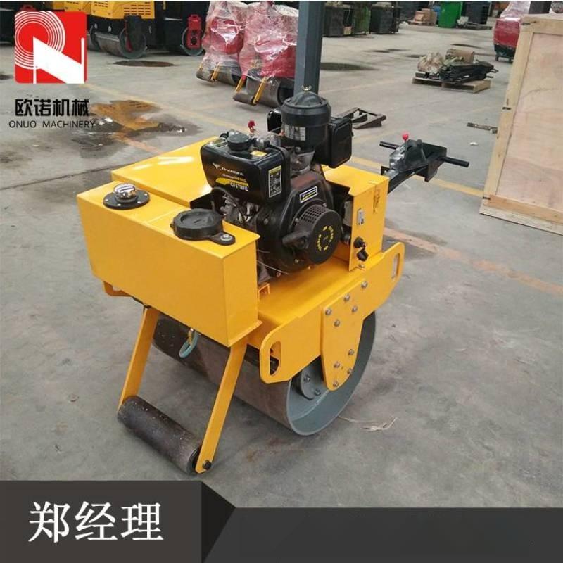 土层地基压实机 手扶式大轮径压路机 单钢轮压路机