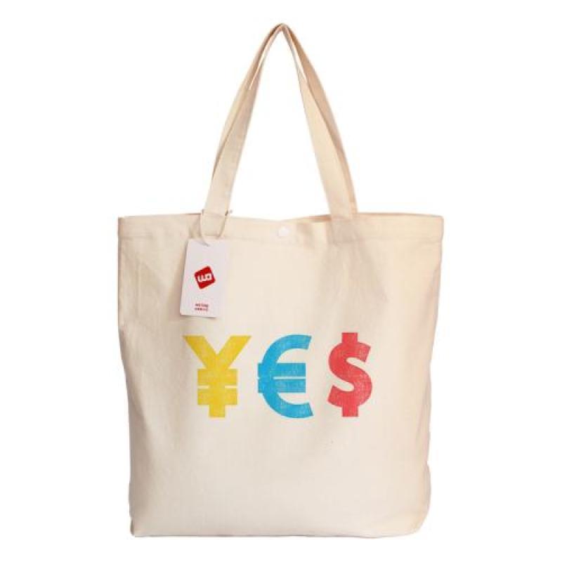 學生逛街衣物雜物收納帆布袋單肩手提精品袋子